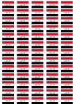 Iraq Flag Stickers - 65 per sheet